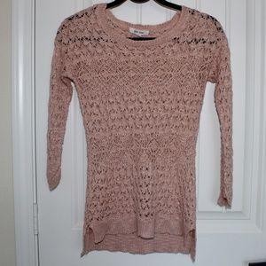 Pink Rose Knit Top Size M B3